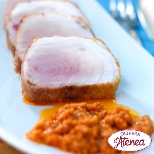 Llom de tonyina amb salsa Xató