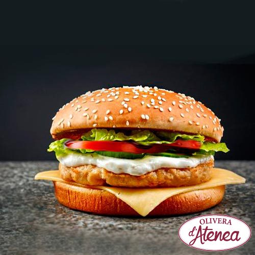 Hamburguesa De Pollo Con Allioli