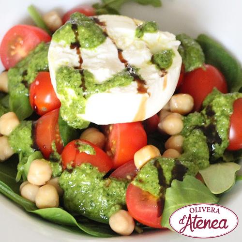 Ensalada ecológica y vegana de garbanzos al Pesto Bio d'Atenea