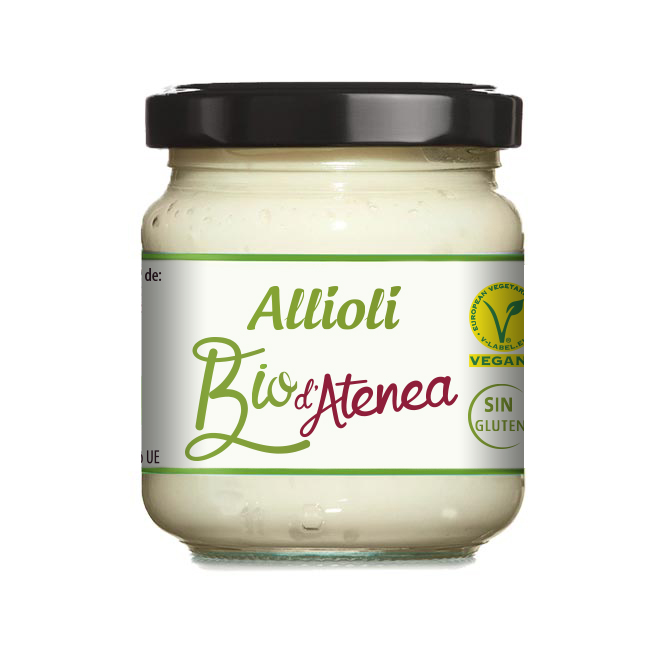 Salsa Allioli Ecológico Bio d'Atenea sin gluten vegano
