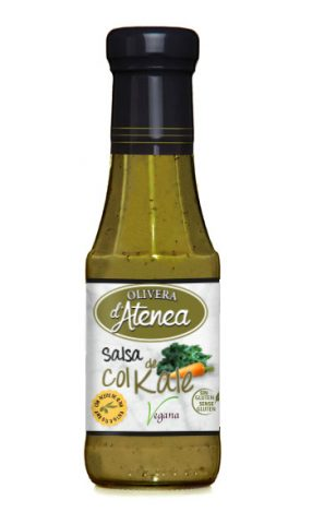 Salsa Col Kale Olivera d'Atenea. Salsa vegana y sin gluten. Fabricantes de salsas.