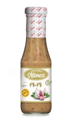 Salsa Pil-Pil Olivera d'Atenea, con aceite de oliva, vegana y sin gluten, 300g