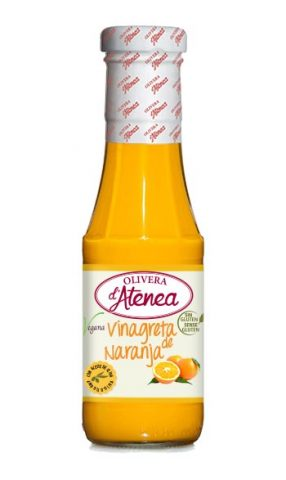 Vinagreta de Naranja Olivera d'Atenea, con aceite de oliva, vegana y sin gluten