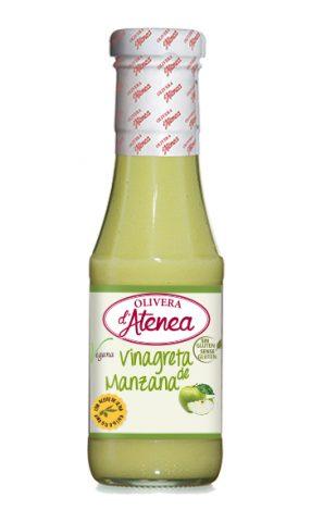 Vinagreta de Manzana Olivera d'Atenea, con aceite de oliva, vegana y sin gluten