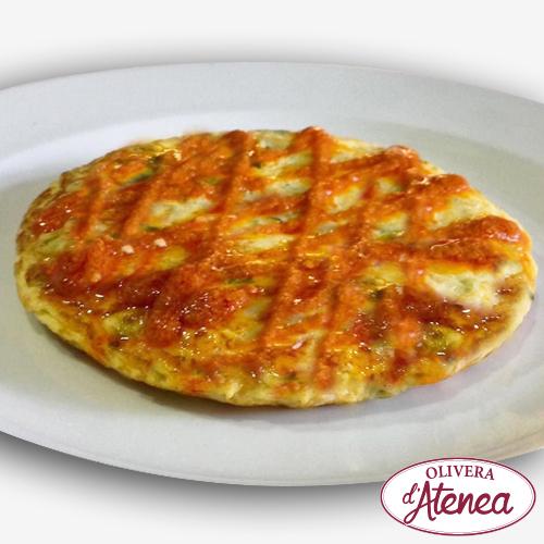 Tortilla de Calçots con salsa Romesco
