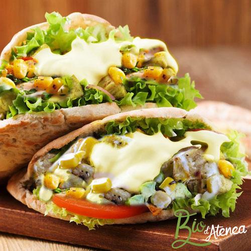 Pitas veganas con MayoVegana ecológica Bio d'Atenea