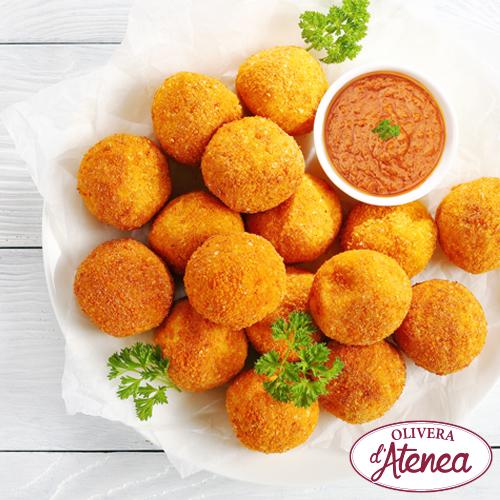 Boletes de formatge amb Salsa Calçots Olivera d'Atenea