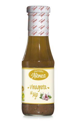 Vinagreta al ajo Olivera d'Atenea. Vegana y con aceite de oliva