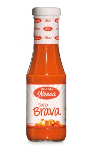 Salsa Brava Olivera d'Atenea vegana, sin gluten y con el punto justo de picante