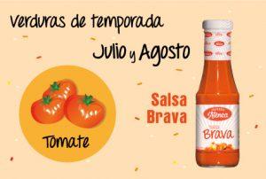 calendario de verduras de temporada con el tomate como protagonista