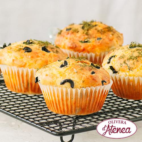 Muffins d'olives i Olivada