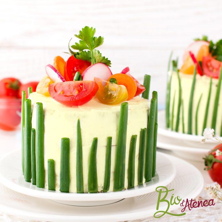 Pastel vegetal frío con MayoVegana Bio d'Atenea