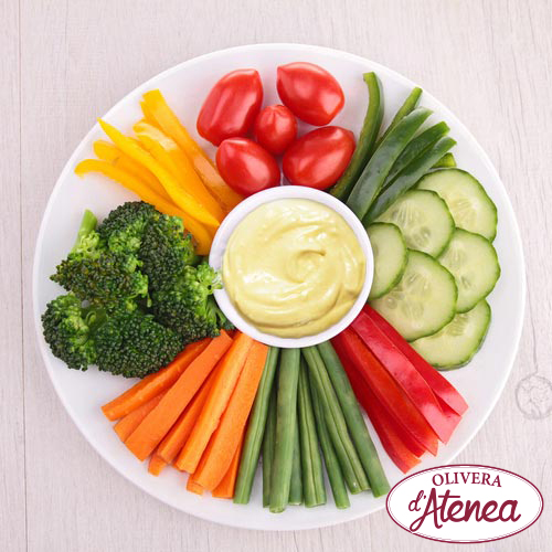 """Crudités"" de verdures amb Maiovegana Bio d'Atenea"