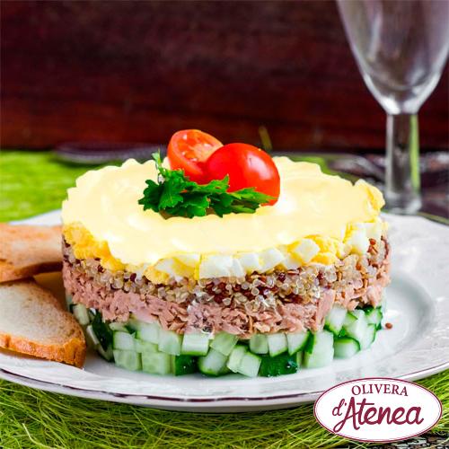 Ensaladilla rusa de quinoa con Mayonesa Bio d'Atenea