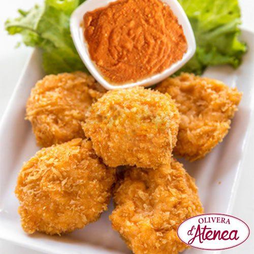 Nuggets de pescado con Salsa Romesco o Salsa Calçots