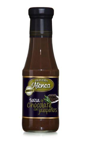 Salsa de Chocolate con Jalapeños Olivera d'Atenea. Exquisita salsa sin gluten.