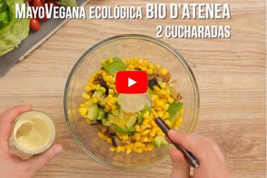 Vídeo receta de pitas de berenjena con MayoVegana Bio d'Atenea SABOR DEL AÑO 2019