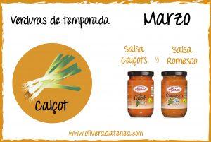 Calendario de verduras de temporada del mes de Marzo