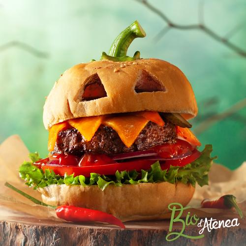 Hamburguesa de Halloween con Ketchup Bio d'Atenea