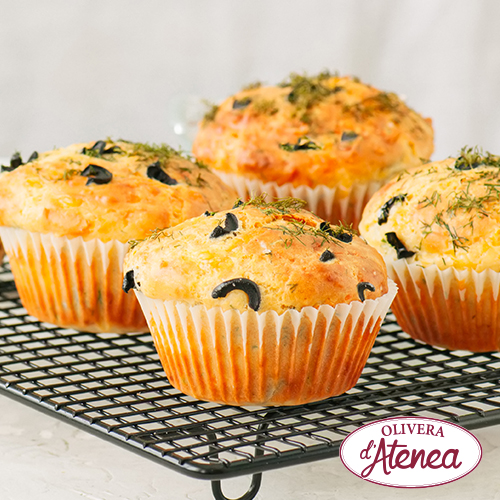 Muffins de aceitunas y Olivada