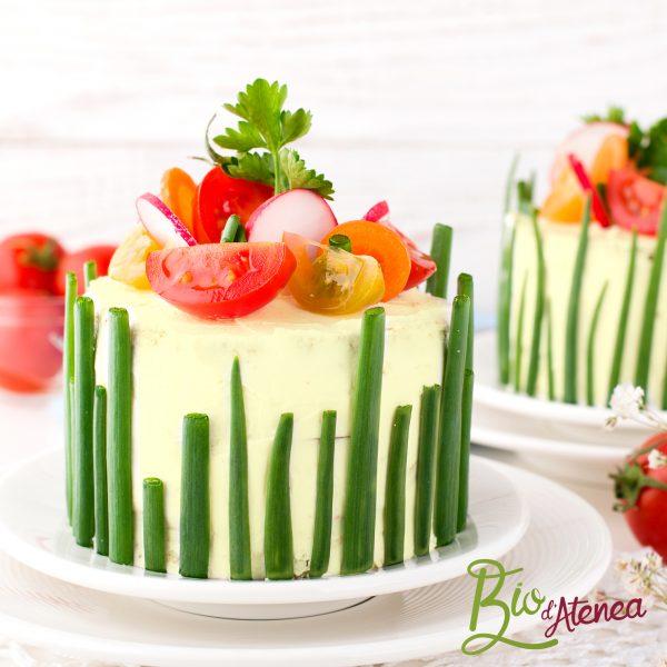 Pastel frío vegetal con MayoVegana