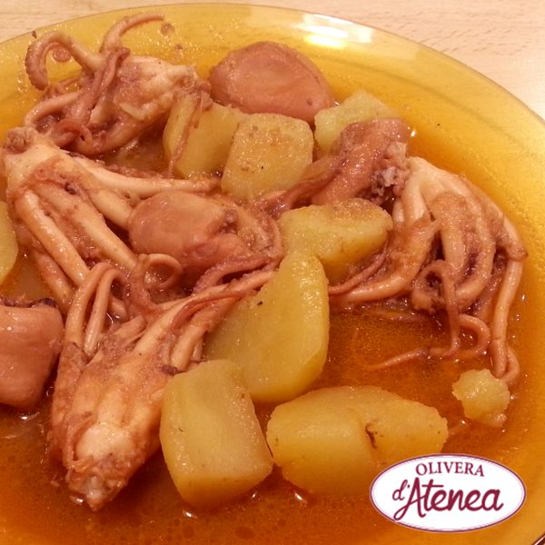 Pulpitos en salsa picantona de Romesco