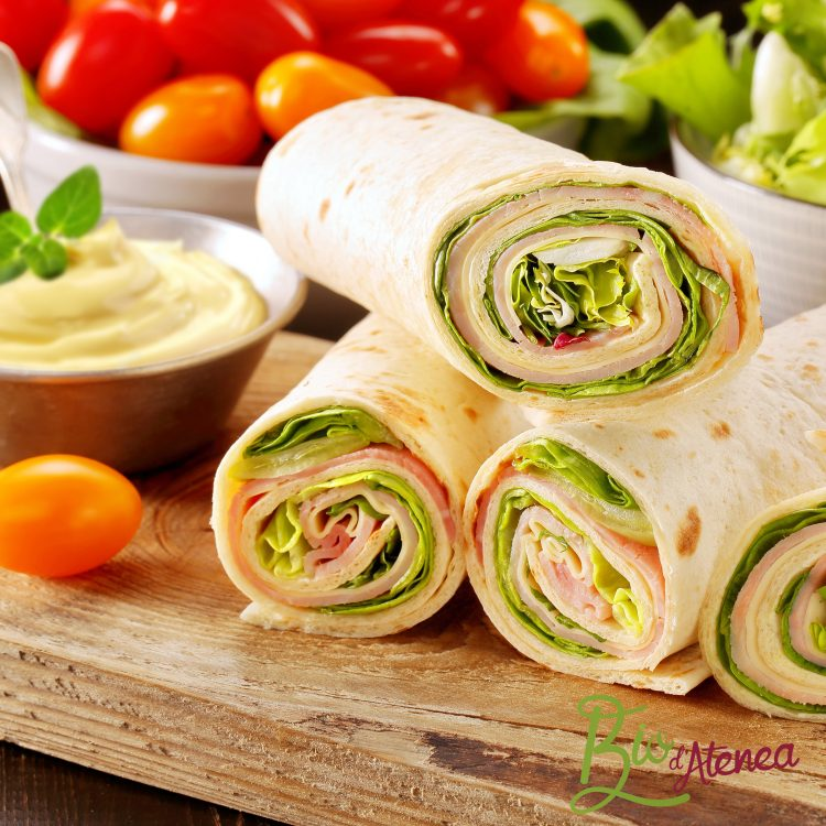 Sandwich enrollado con MayoVegana