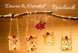 Decoraciones de Navidad con tarros