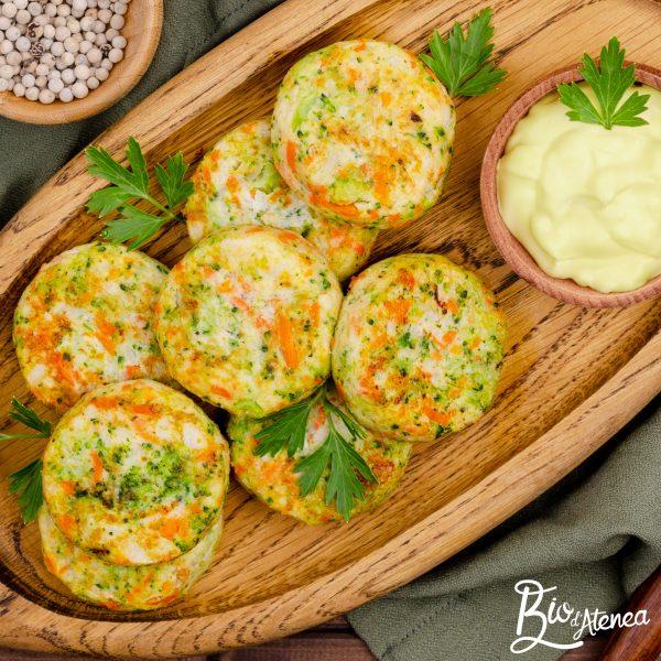 Bunyols de carbassa i bròquil amb MayoVegana